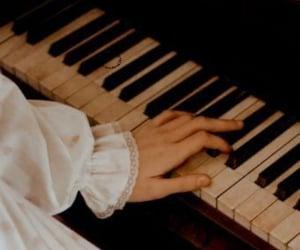 aesthetic, piano, and dark academia image