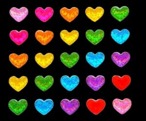 hearts, colorful, and heart image