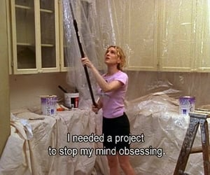 Carrie Bradshaw, painting, and sex and the city image