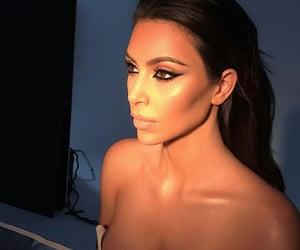 eyeliner, kim kardashian, and goals goal fleek image