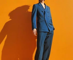 blue, orange, and suit image