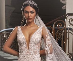 beautiful, wedding dress, and dress image