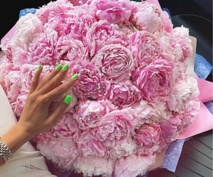 peonies, style, and babe image