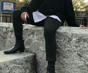boy, dark, and fashion image