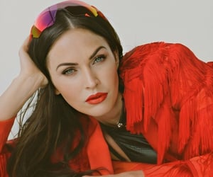 holographic, red, and megan fox image