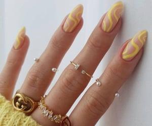 yellow nails, trendy nails, and nail ideas image