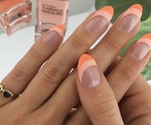 nails inspo, orange nails, and trendy nails image