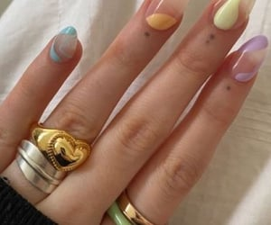 colorful nails, nail inspo, and trendy nails image