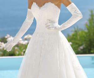 bridal, bride, and dresses image