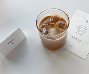 cafe, white, and iced coffee image