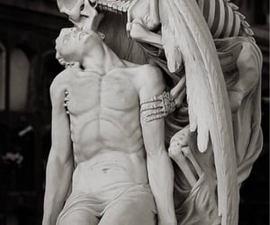 angel, death, and kiss image