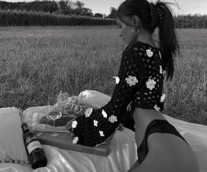alcohol, girl, and wine image