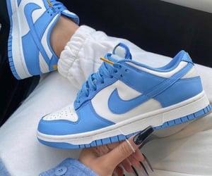 nike, blue, and fashion image