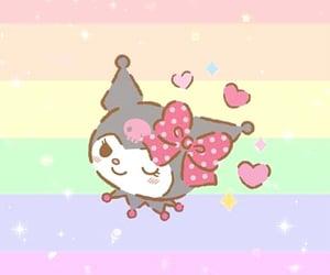 arcoiris, kuromi, and sanrio image