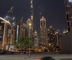 city lights, Dubai, and night image