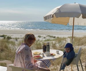 beach, family, and life image