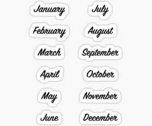 Algeria, months, and printable stickers image