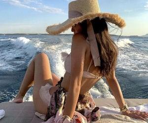 bikini, boat, and girl image