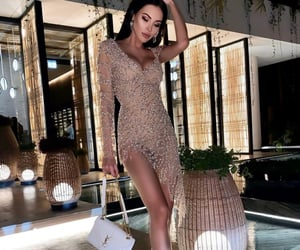 brown, chic, and dress image