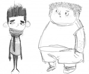 illustration, sketch, and pencil image