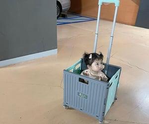 babies, cart, and chubby cheeks image