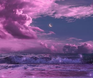 aesthetic, cloud, and glitter image