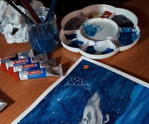 art, ballena, and blue image