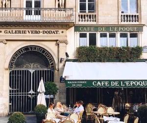 cafe, coffee, and paris image
