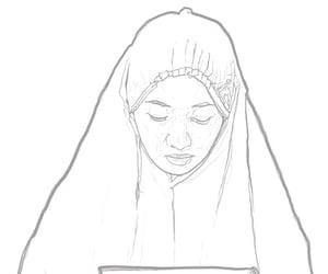 art, hijab, and islam image