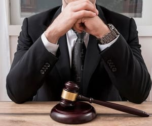 male lawyer working image