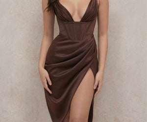 beauty, brown, and dress image