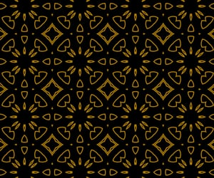 black, gold, and pattern image