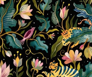 black, pattern, and tropical image