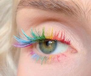 colorful, eyelashes, and girl image