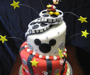 cake, disney, and red image