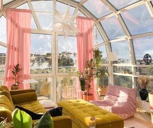 interior design, interior decor, and pink image