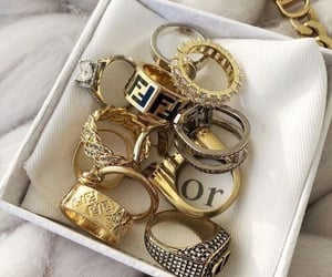 gold, rings, and dior image