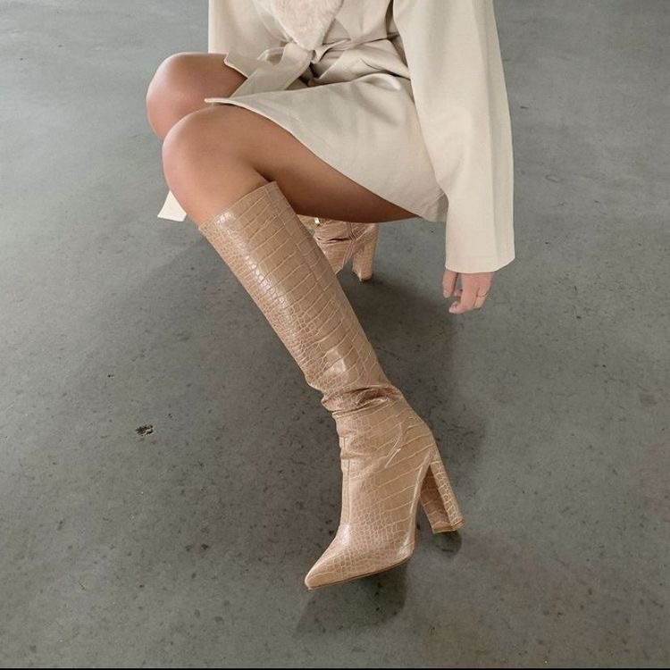 beige, fashion, and boots image