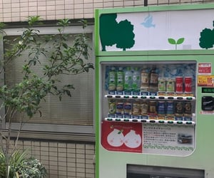 aesthetic, vending machine, and green image
