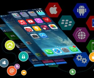 marketing, mobile app, and mobile application image