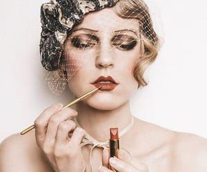 girl, makeup, and vintage image