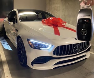 car, mercedes, and rich image