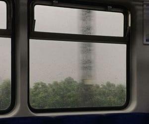 train, rain, and aesthetic image