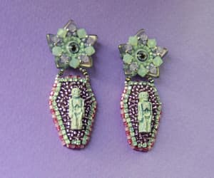 day of the dead, etsy, and halloween jewelry image