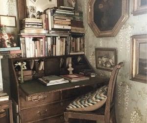 book, desk, and vintage image