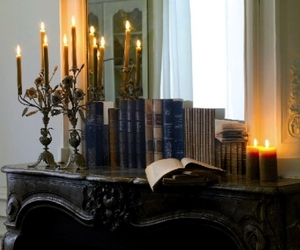 black, victorian, and books image