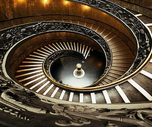 spiral stairs, vatican city, and vatican museums image