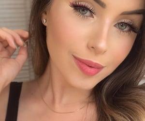 beautiful, eyeliner, and greeneyes image