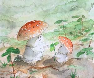 mushroom and cottagecore image