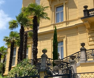 architecture, hrvatska, and palm trees image